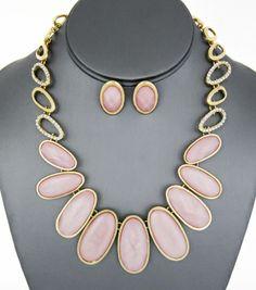 Marblized Acrylic Gemstone Necklace