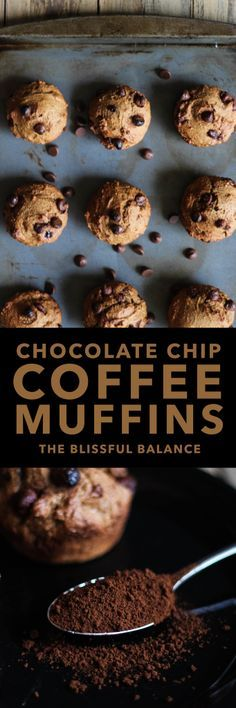 Chocolate Chip Coffee Muffins | the blissful balance