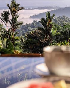 An unbeatable #breakfast view. Taking in the sights and sounds of the #rainforest over a #CostaRican #coffee via @ouramdream! #CostaRicaExperts #CostaRica