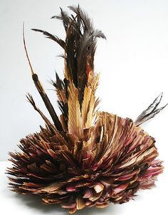 Feather headdress from the Bamileke tribe - Cameroon