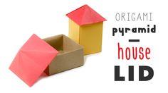Origami House Box - Pyramid Lid