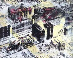 Robert Boynes, 'City of Quartz #1' 1997, acrylic on canvas, 20.5 x 25.5cm