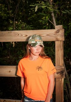 Blaze orange with deer logo for all ages