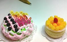 """Mini-cakes I made using different types of air-dry clay for different textures of the """"ingredients"""". Fb: facebook.com/crafternovice YT: youtube.com/c/crafternovice Blog: http://crafternovice.blogspot.hk"""