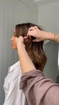 Easy Hairstyles For Long Hair, Wedding Hairstyles, Evening Hairstyles, Messy Hairstyles, Medium Hair Styles, Curly Hair Styles, Hair Upstyles, Aesthetic Hair, Bridesmaid Hair