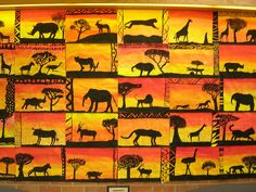 Resultado de imagen para african art for kids African Art For Kids, African Art Projects, African Crafts, Middle School Art, Art School, High School, 4th Grade Art, Ecole Art, Africa Art