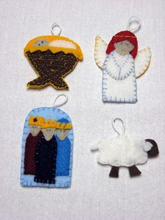 Advent Calendar Ornament ideas...like the three wise men ornament...make for Epiphany