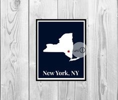 NY State Art Print Digital Art Wall Art 8x10 by UniQCreations, $5.00