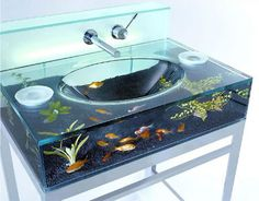 yes... yes i WOULD like an aquarium in my sink