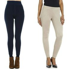 Pre-made Legging Bundle Steve Madden Via Spiga M/L This bundle includes 2 pairs of leggings in a M/L. The navy leggings are by Steve Madden and are lined with fleece. The light tan leggings are by Via Spiga and feature a brushed suede finish. Neither have been worn. Steve Madden Pants Leggings