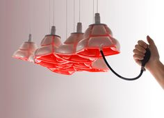 ACROPORA an inflatable #uniquelights #lighting #red #homedecor