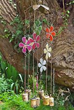 ♥ DELICIOUS LARGE FLOWER BELLS 'N' BEADS WIND CHIME BOHO HIPPIE FESTIVAL GARDEN Hippie Festival, Large Flowers, Hippie Boho, Wind Chimes, Beads, Garden, Plants, Color, Beading