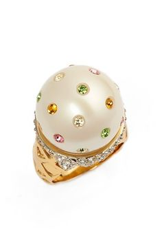 kate spade new york 'carnival nights - ice cream' faux pearl ring available at #Nordstrom