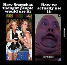 I can always make myself look ugly! just not cute ha ha! Love me some snapchat