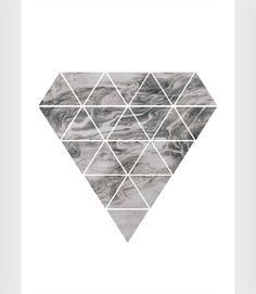 Diamond print Diamond wall art Pattern poster by ShopTempsModernes