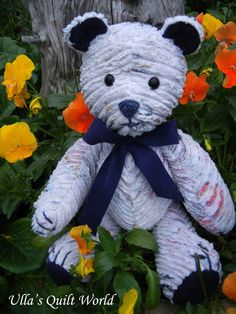 Ulla's Quilt World: Teddy Bear and PATTERN, Chenille