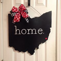 This large Ohio sign is painted with a black, red, and white color scheme. It measures approximately 19 in width and height. It is sprayed with an acrylic top coat for added protection. When ordering, please specify the city in which you would like the heart to be placed. Other colors are available, if you would like a custom order please just send me a message and I will be happy to accommodate your request. Unpainted signs can also be purchased upon request for $25.00.