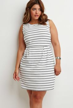 Textured Stripe Sheath Dress | Forever 21 PLUS - 2000167053 $22.90
