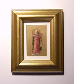 SMALL FRAMED ANGEL  Matted Renaissance Angel by MissAnthonysAttic
