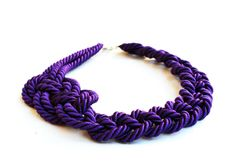 PURPLE ROPE NECKLACE. Rope Violet Necklace  Rope knot by Nokike, €31.00