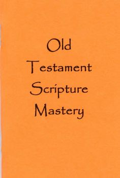 scripture mastery booklet-reallly neat!  Could use this for school, too!