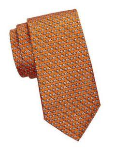Saks Fifth Avenue Elephant Print Silk Tie In Orange Elephant Print, Saks Fifth Avenue, Silk Ties, Mens Fashion, Orange, Shopping, Style, Moda Masculina, Men Fashion