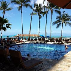 Who can beat a view like this at the Outrigger Waikiki on the Beach in Oahu?