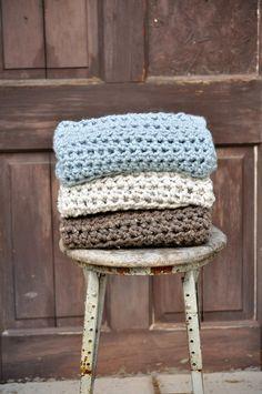 Crochet Baby Blanket lovely soft colours