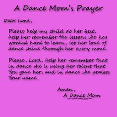 Yes! I pray that my girls love of dance and God shines bright daily!