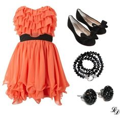 Love, Coral dress..but I would change belt & accessories to something blingy for my occasion
