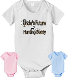 Uncle's future Hunting hunting buddy with by CustomTeesForTots, $13.95