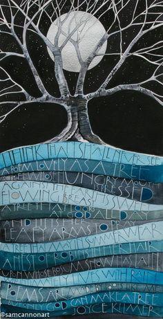 New for 2015 « Sam Cannon Art Landscape Quilts, Landscape Art, Sam Cannon, Art Textile, Art Graphique, Calligraphy Art, Art Plastique, Tree Art, Fabric Art