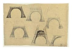 Giclee Print: Pictures of the Decorative Arch of the Eiffel Tower by Alexandre-Gustave Eiffel : 24x18in