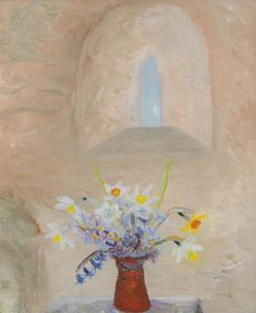 Winifred Nicholson, Daffodils and Hyacinths in a Norman Window, (circa), Kettle's Yard, University of Cambridge Winifred Nicholson, Aberdeen Art Gallery, Your Paintings, Magical Paintings, Flower Paintings, Window Art, Art Uk, Flower Vases, Flower Art