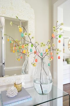 How to make a cheap and easy Easter egg tree (takes five minutes and looks so festive!)