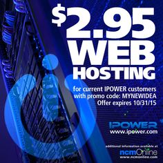 Current customers can add an additional IPOWER web hosting account at only $2.95 per month. Use promo code above in your cart when you order. Offer expires 10/31/15. Coupon Codes, Coupons, Cart, Coding, Covered Wagon, Coupon, Programming, Strollers