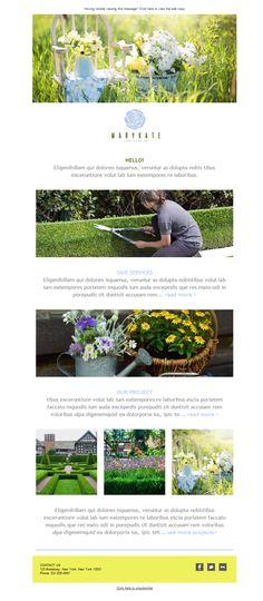 Si te dedicas a los servicios de paisajismo, no dudes en hacer email marketing con estas plantillas newsletters gracias a Mailify. Expresa tu trabajo y moldea tus campañas, adaptándolas a tus necesidades.