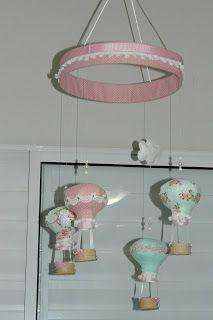 Lembranças Artesanais: Novo projeto - Móbile de balões!