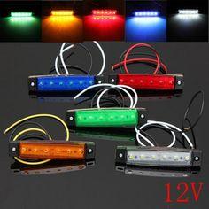 12V 6 LED Car Bus Truck Trailer Lorry Side Marker Indicator Light Brake Signal Lamp 5 Color Blinker Light - $6.99