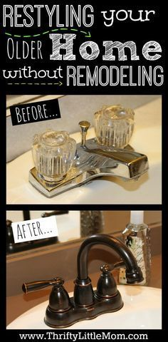 How to restyle your older home without doing major expensive remodeling. With these tips it's like remodeling on a budget. Includes lighting, simple remodel bathroom and other tweeks to make your outdated home seem new again without spending thousands o