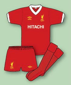 LIVERPOOL FOOTBALL SHIRT HISTORY  Liverpool Kit 1976–77 to 1981–82  Liverpool Fc 9a08b3915