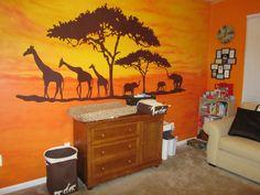 African safari us kids room design, safari room och safari k Safari Room, Safari Kids Rooms, Jungle Room, Safari Nursery, Safari Theme, Nursery Themes, Nursery Room, Baby Room, Themed Nursery