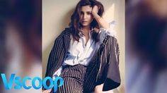 Actress #AnushkaSharma Striped For #Filmfare Cover #Magazine #VSCOOP