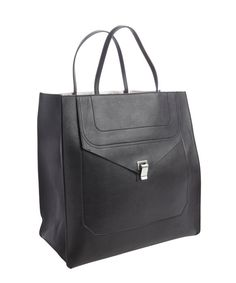 Proenza Schouler : black leather 'PS1' convertible tote bag : style # 330922901
