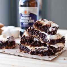 With Breakfast Stout? Mmmmm....Chocolate Stout S'Mores Bars