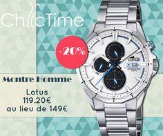 Pour la fin des soldes, procurez-vous cette montre Lotus multifonction avec ses détails bleutés pour 119.20€ au lieu de 149€ !  Voir la montre: https://www.chic-time.fr/montres-homme/85715-montre-lotus-l18319-1-8430622642463.html