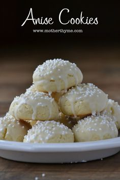 Anise Cookies anise cookies cook only minutes. just drop off spoon. Very Good and they don't spread out when baking Italian Cookie Recipes, Italian Cookies, Italian Desserts, Italian Ricotta Cookies, Italian Pastries, Xmas Cookies, Yummy Cookies, Cake Cookies, Almond Cookies