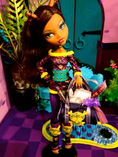 MONSTER HIGH Clawdeen Wolf Workout Embellished by GhoulsRule, $16.99