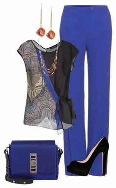 Женственные и элегантные образы с брюками 4