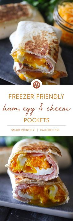 Ham, Egg, and Cheese Freezer Pockets